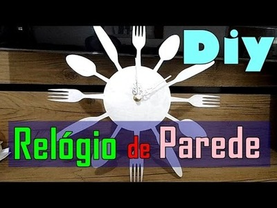 Relógio Talheres - MDF DIY #OUTUBROROSA