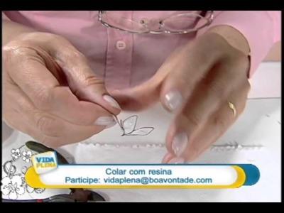 Artesanato - Colar com resina