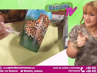 Botella con Técnica Decoupage - Aprender con Rossana TV #1. Temporada 2