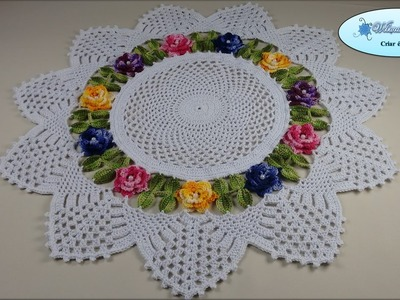 Centro de Mesa de Crochê Floral - Vídeo Aula 04