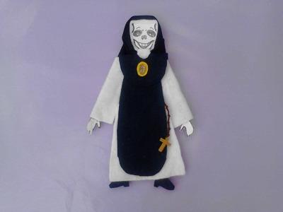 Como vestir calaveras  o esqueleto de papel  monja