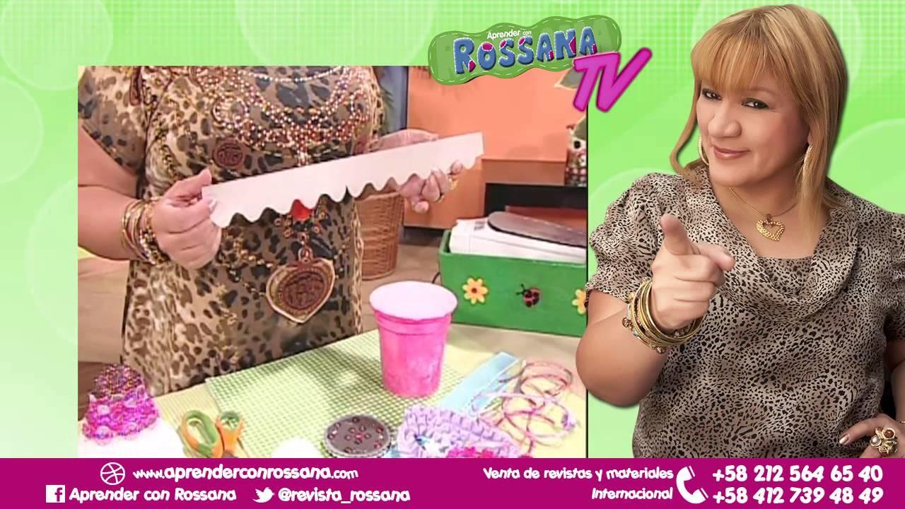 Cotillón en forma de Helado con envase de arroz chino - Aprender con Rossana TV #2. Temporada 2