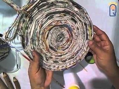 Curso de Artesanato (Papel) Aula 02 - Arte com papel