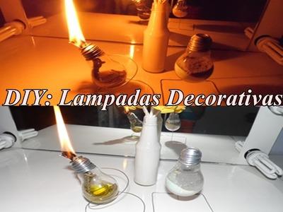 DIY: Lampadas Decoradas- POR- Fernanda Martins