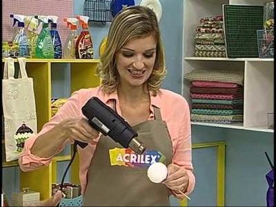 Enfeite de cupcake - Artesanato - Acrilex