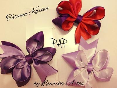 Gabarito 2: Pap de laço com fita dupla- Tatiana Karina by Laurika Artes
