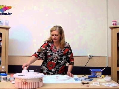 Passo a Passo Tintas Corfix - Caixa decorada  com a técnica Shabby Chick com a artesã Vicky Perricci