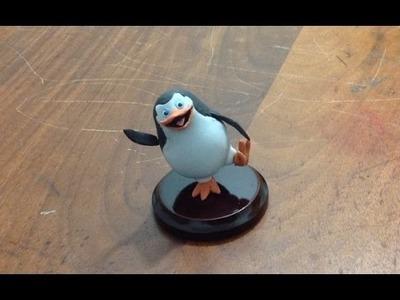 Pinguino - Madagascar - Tutorial porcelna fria.plastilina