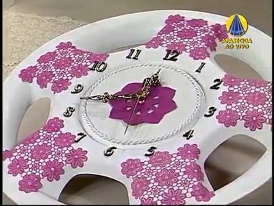Sabor de Vida   Artesanato  Relógio de calota   17 de Abril de 2013