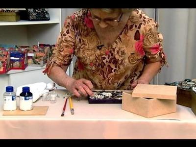 Artesanato - Decupagem com bijuteria