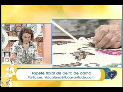 Artesanato - Tapete floral