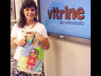 Bolsa com aplique de boneca com Vanessa Iaquinto | Vitrine do artesanato na TV
