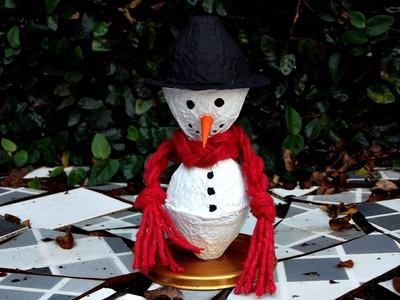 DIY - Boneco de neve - Especial Natal