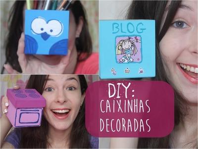 DIY: como decorar caixinhas de MDF? | Karine Clessia