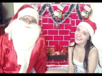 Diy: Lareira de natal ♥