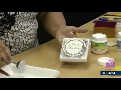 Programa Artesanato sem Segredo (05.10.15) - Caixa natalina