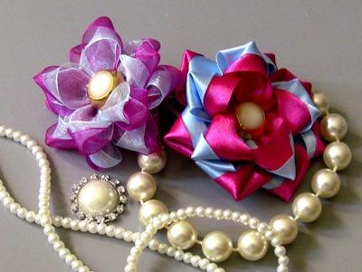 D.I.Y. Diferente  Flor  de Fitas  - Fabric flower tutorial