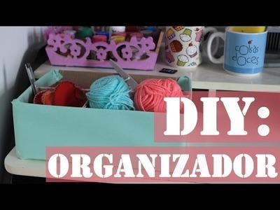 DIY: Caixa organizadora de trecos, pinceis, canetas, | @karineclessia