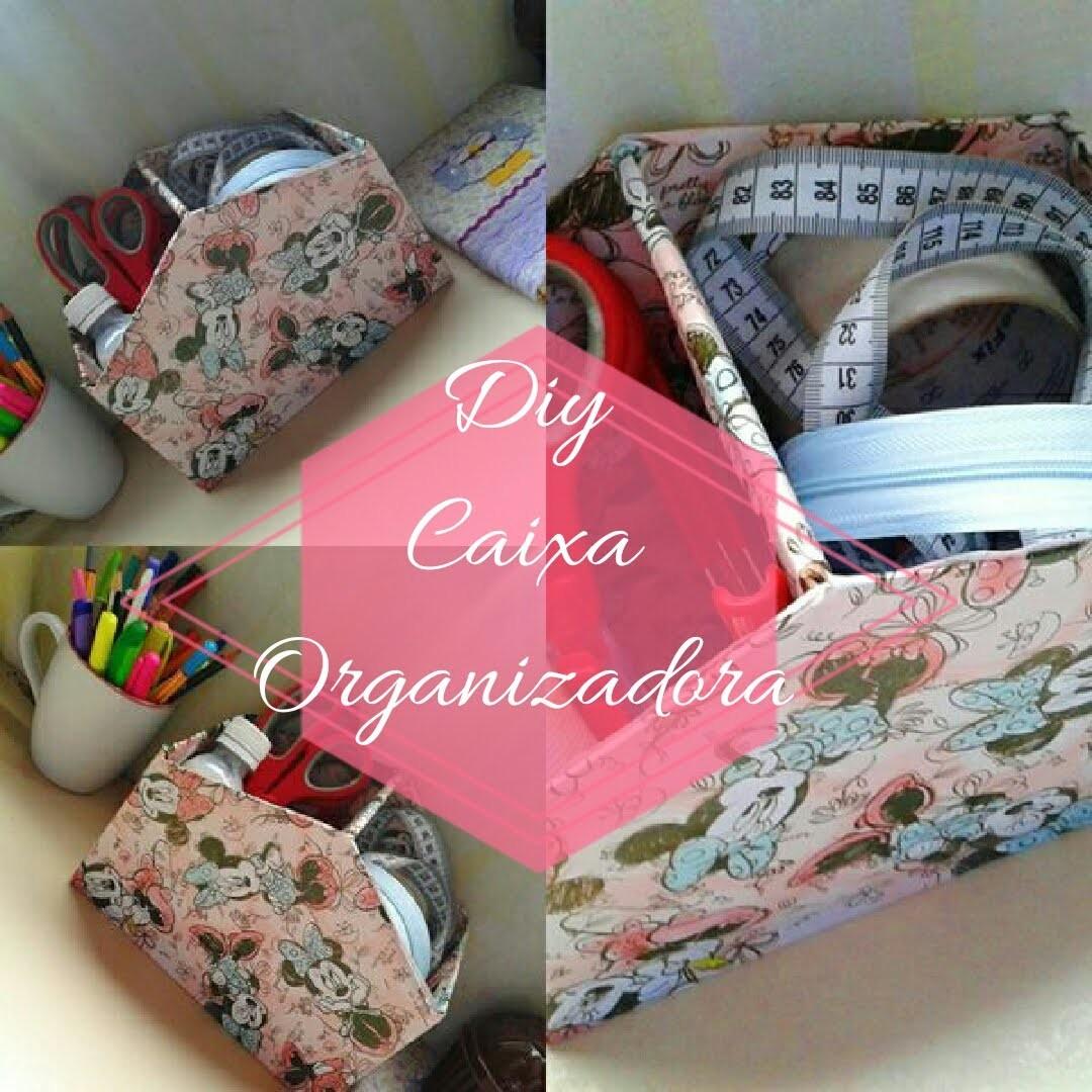 DIY - Caixa Organizadora (feita com caixa de sapato)