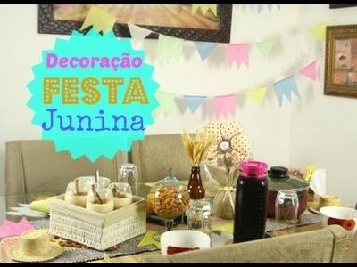 DIY - Decoração de Mesa Para Festa Junina.Julina - por Raquel Guimarães
