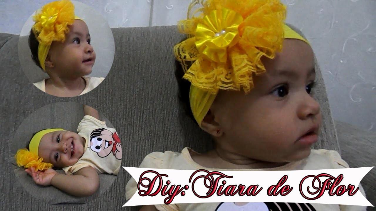 DIY: Tiara Infantil de Flor  #VEDA21