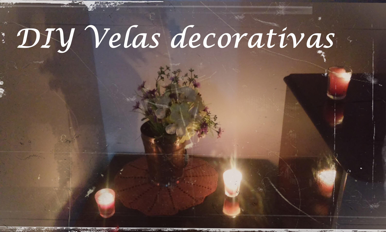 Diy -  Velas decorativas