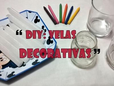 DIY: Velas Decorativas.Personalizadas