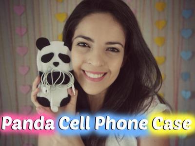 DIY - Porta Celular de Panda (Panda Cell Phone Case) | Larissa Vale