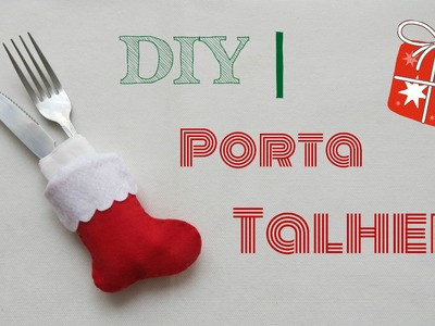 DIY  |   Porta Talher   - Bota do Papai Noel