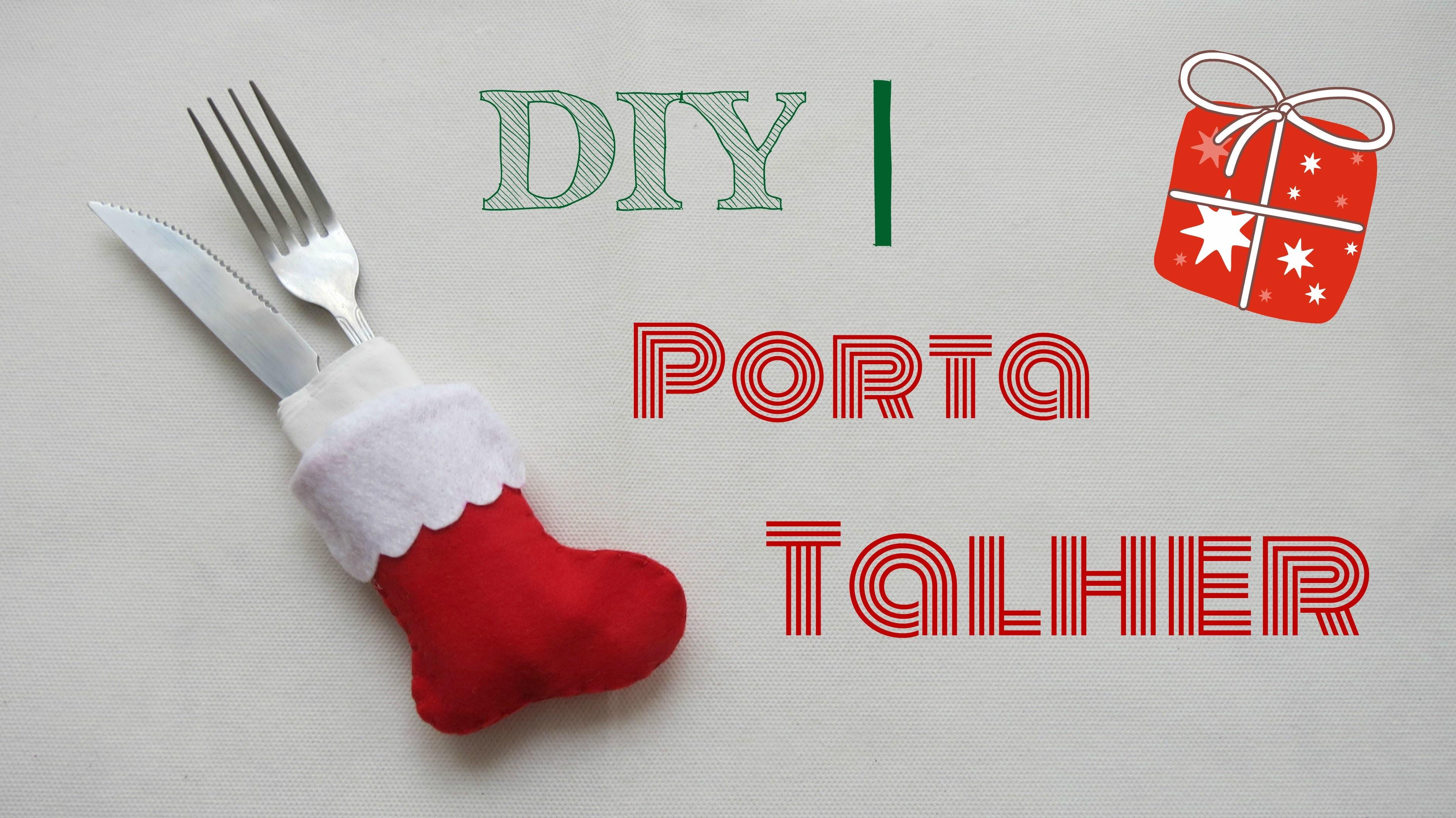 DIY      Porta Talher   - Bota do Papai Noel