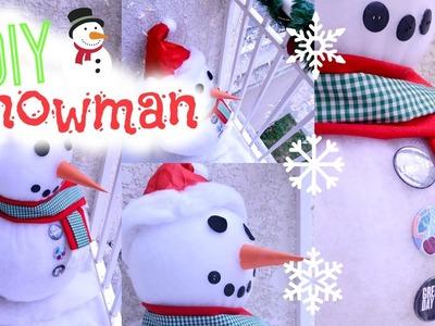 DIY: Snowman (Boneco de neve) | Paula Souza