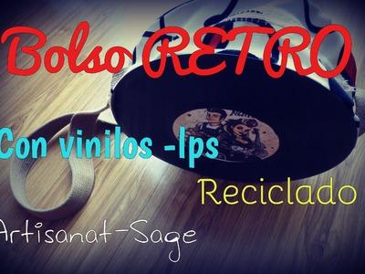 Bolso de Vinilos LPS-RETRO-[Reciclado], FACIL.DIY.HowTo