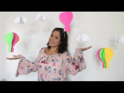 DIY - Balão e Nuvem 3D