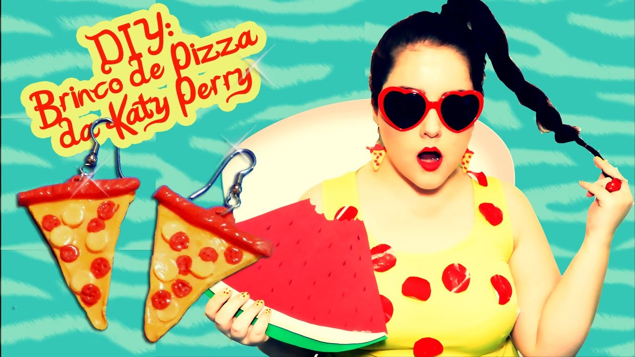 DIY: Brinco de Pizza da Katy Perry