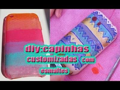 Diy:capinhas customizadas com esmaltes