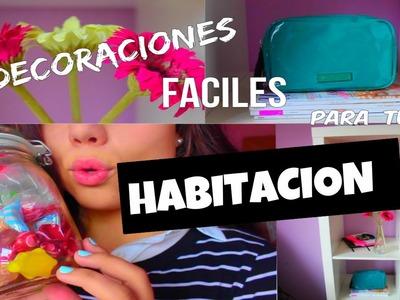 DIY DECORACIONES FÁCILES PARA TÚ HABITACIÓN