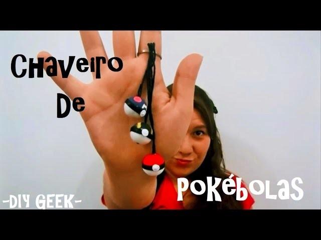 DiY GeeK   Chaveiro de Pokébolas