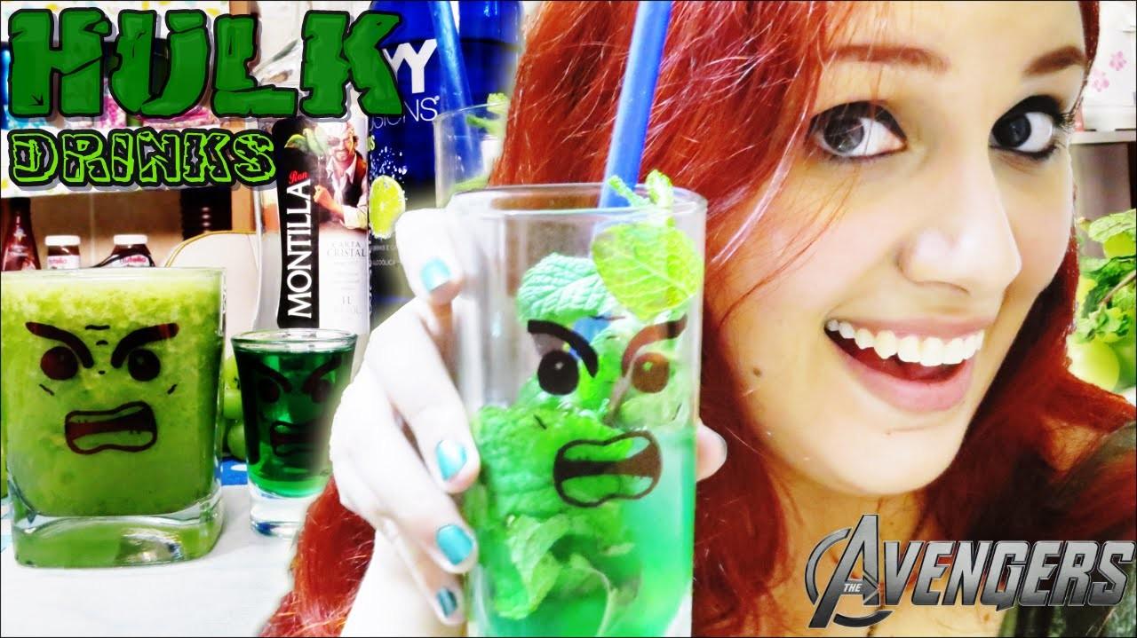 DIY: HULK Drinks (Especial The Avengers) || Suco verde, Mojito e Flamejante