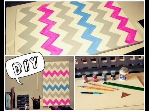DIY: Pintura de QUADRO chevron | Poliana