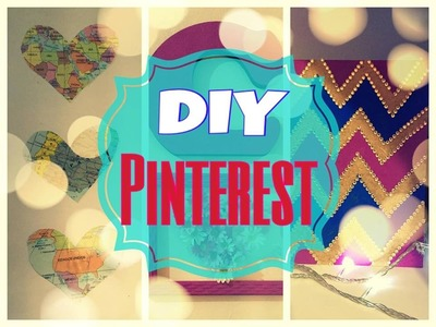 DIY: Quadros Inspirados no Pinterest