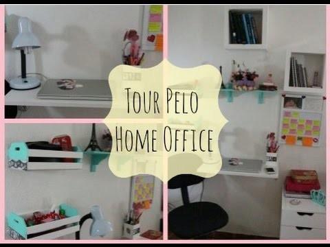 Tour pelo Home Office , Dica de Decoração, DIY   por Quel Guimarães