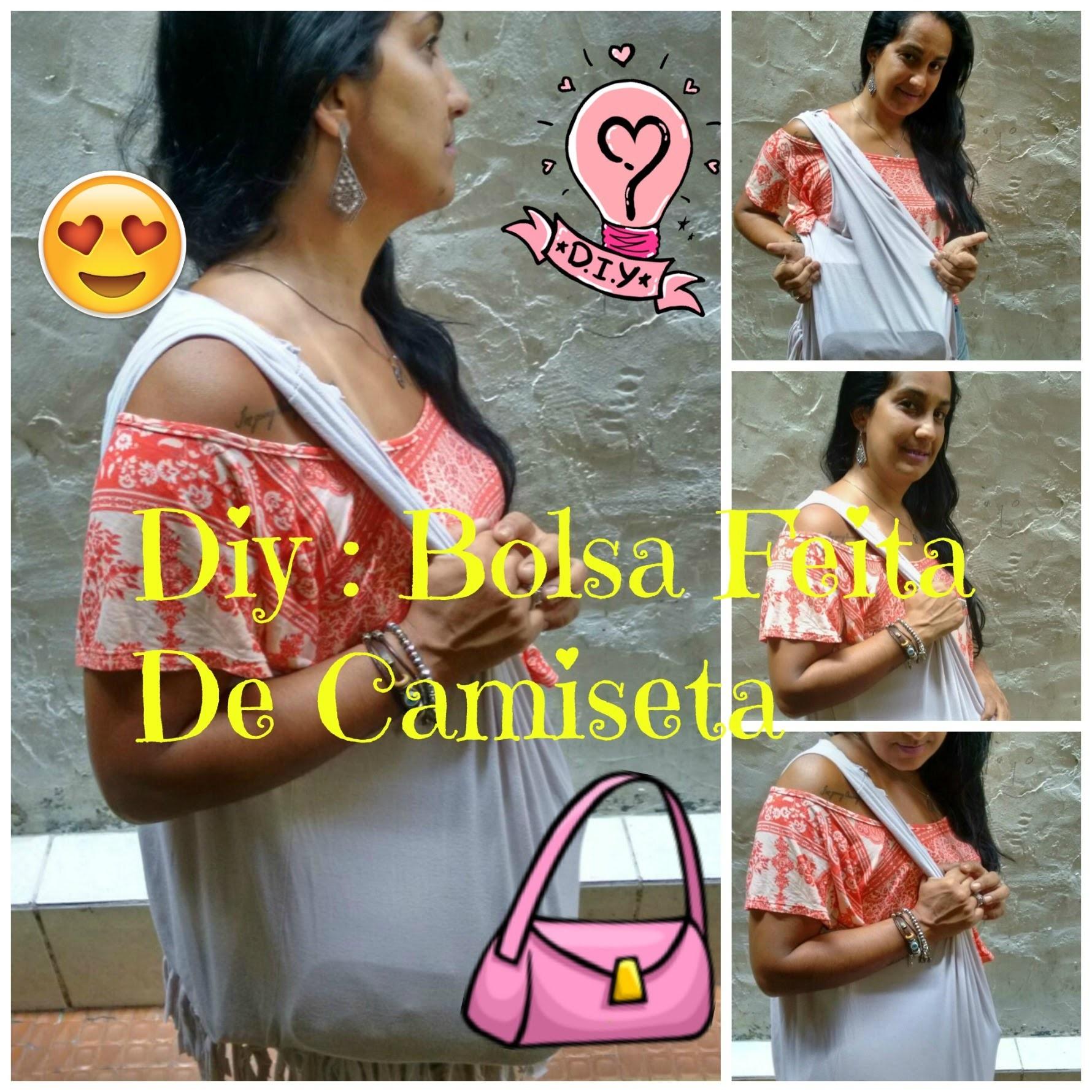 ❤ DIY :BOLSA  FEITA DE CAMISETA  ❤