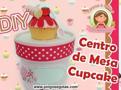 DIY CENTRO DE MESA CUPCAKES