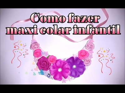 DIY-Como fazer maxi colar. How do necklace maxi