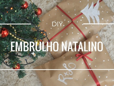DIY: Embrulho natalino - papel craft