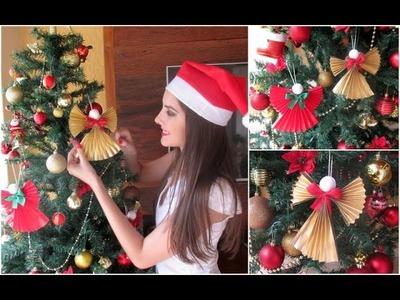 DIY: Enfeite para árvore de Natal - Anjos de papel