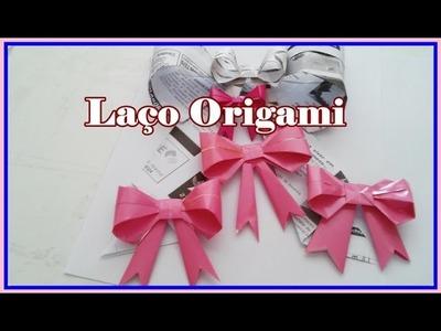 Diy Laço de papel Origami