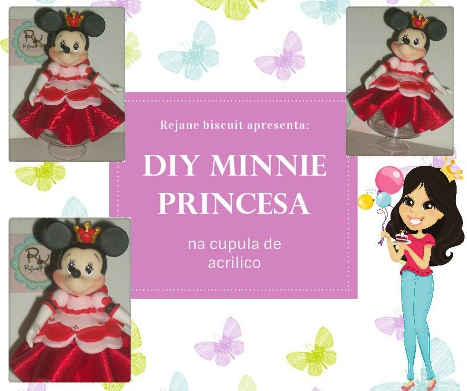 DIY Minnie Princesa na cúpula de acrilico