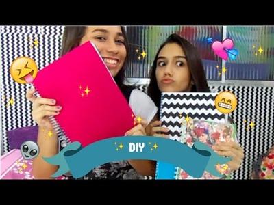 DIY (VOLTA ÀS AULAS) : Agenda dos crushs, caderno travesseiro, caderno chevron!!!!!!!!!!!!!!