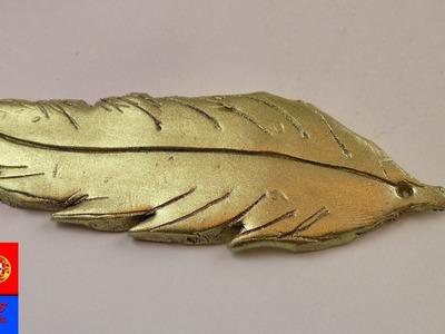 Amuleto de Pena – DIY Massa Fimo